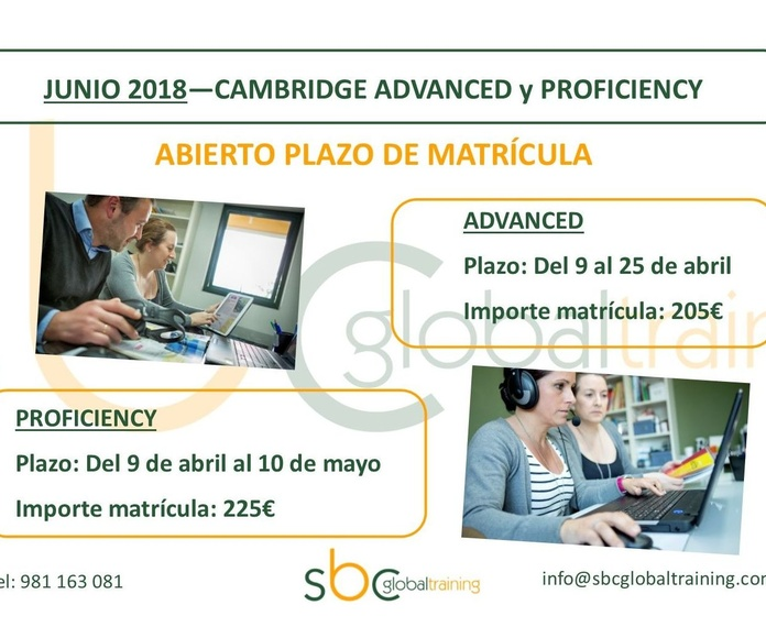 CAMBRIDGE ADVANCED y PROFICIENCY abierto plazo de matrícula exámenes Junio 2018