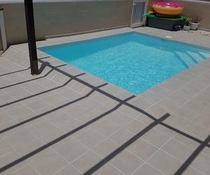 piscina realizada en Corralejo, acoplándonos al espacio, el cliente muy satisfecho con la finalización del trabajo