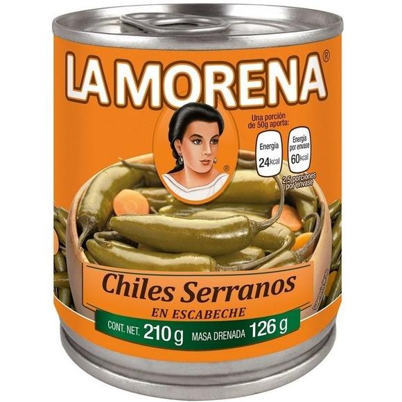 Chiles serranos La Morena : PRODUCTOS de La Cabaña 5 continentes