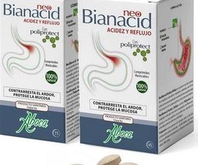 NEOBIANACID, alternativa natural contra la acidez de estomago y reflujo.