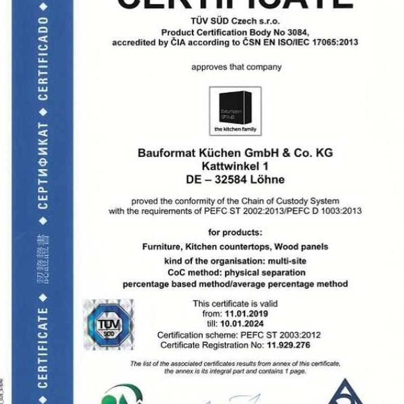 Certificado PEFC Bauformat