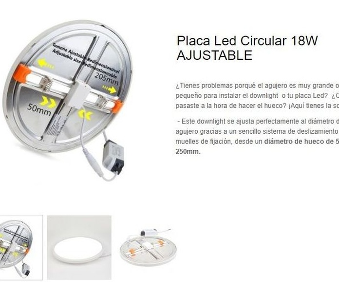Downlight ajustable: Productos de Centro Led Almería