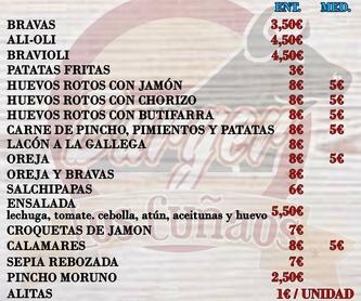 Sándwiches: Platos de Burger Los Cuñaos
