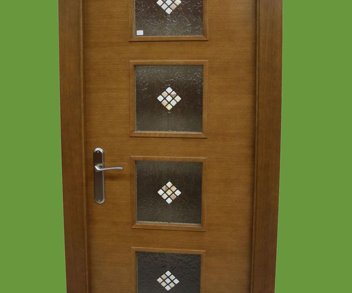 Puerta Interior Roble Tinte Nogal Asturias