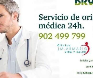 Con DKV Famedic Plus  y Clínica JM Armario, servicio de orientación médica 24h.
