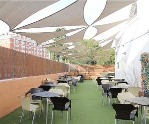 Terraza del restaurante Casa Extremadura