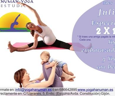 Yoga embarazadas y Yoga con bebé.