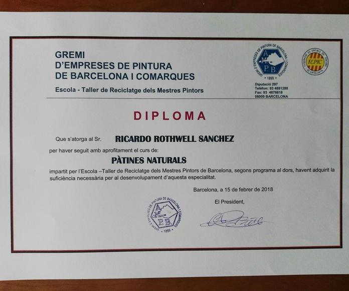 Certificación Pàtines Naturals.
