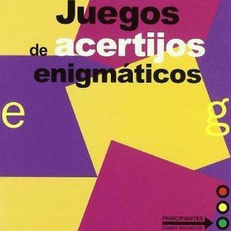 Juegos de acertijos enigmáticos. Eric Emmet. Editorial Gedisa
