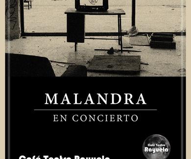 """MALANDRA presenta su primer trabajo, """"Radiografía del vacío"""" en el Café Teatro Rayuela"""