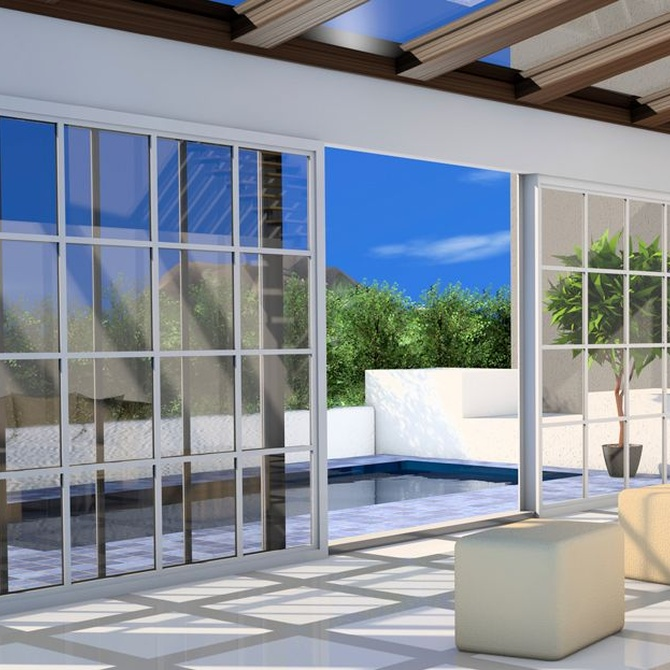Tipos de puertas para terrazas