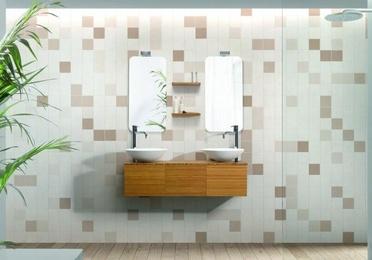 Mueble de baño Vidrebany colección CUBE - modelo BAMBU