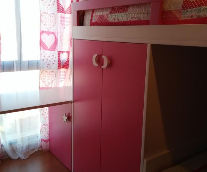 Dormitorio mod. fresa y nata