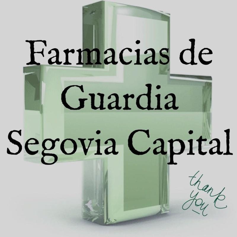 FARMACIA DE GUARDIA SEGOVIA CAPITAL 2018: Servicios de Farmacia Vía Roma