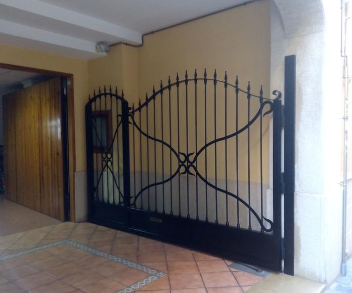 Detalle de grados de apertura de puertas