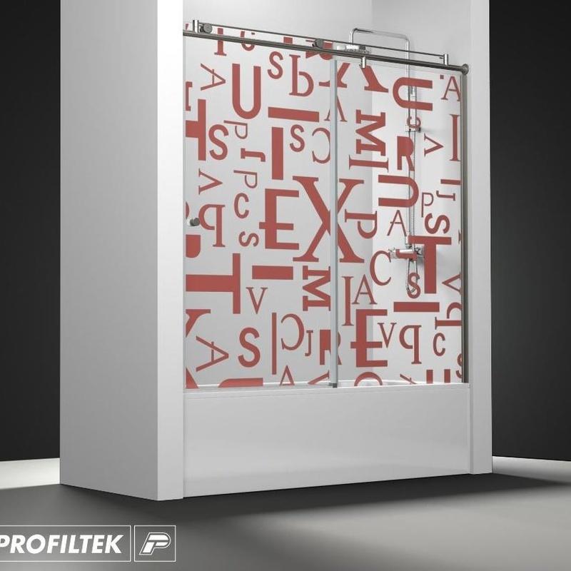 Mampara de baño Profiltek serie Steel modelo-110 Light decoración Forever