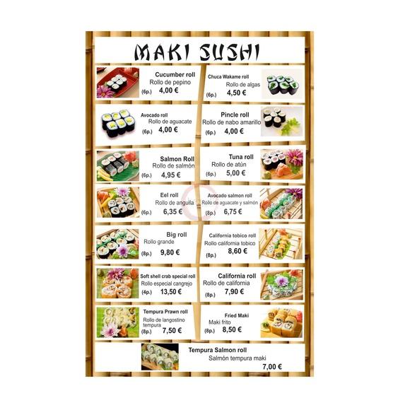 Maki Sushi: Carta y menú de Restaurante Teppanyaki Kazuki