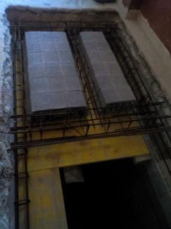 Realización  de forjado en hueco de escalera ( Mallorca)