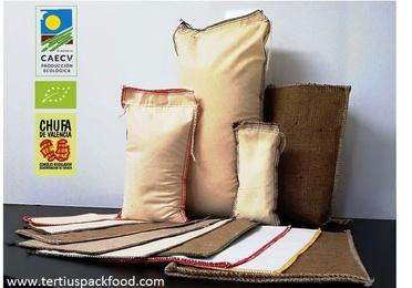 Envase textil con diferentes materiales