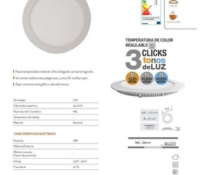 Downlight 3 temperaturas
