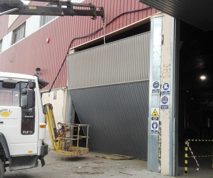 montaje puerta basculante pre leva  ROMANI Valencia