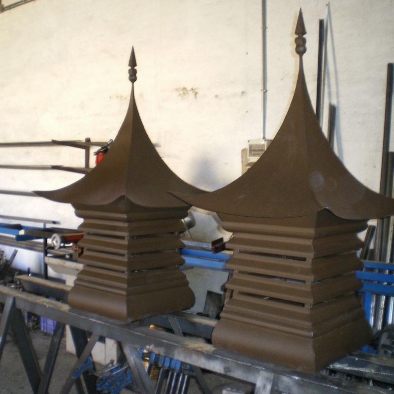 Caperuzas de chimenea estilo oriental.