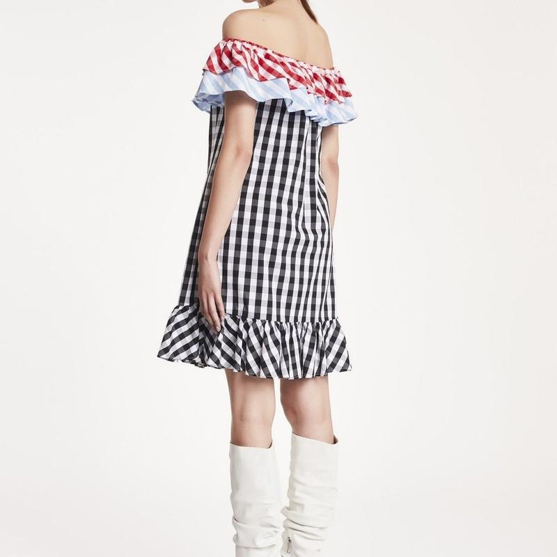 Vestido Corto Vichy