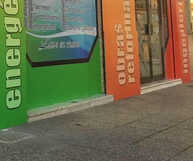 """Rotulacion de fachada en Camino de Ronda """"Gestióndiez"""""""