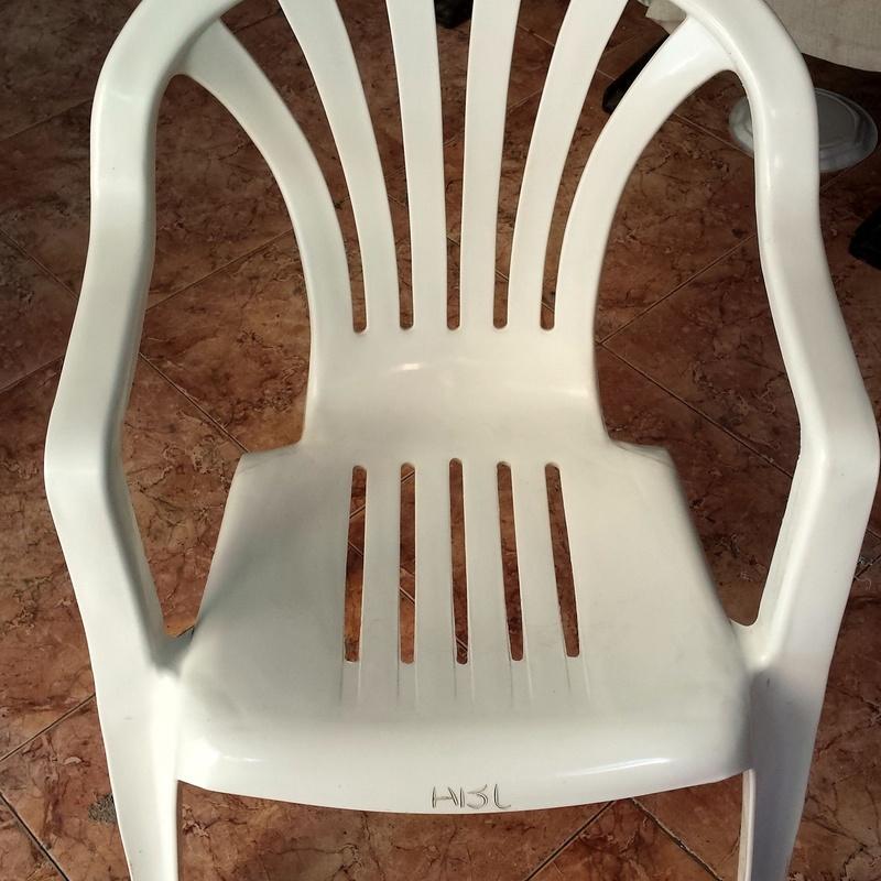 Venta de sillas de plástico para jardín o terraza