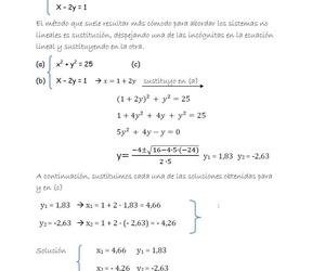 Solución del sistema no lineal