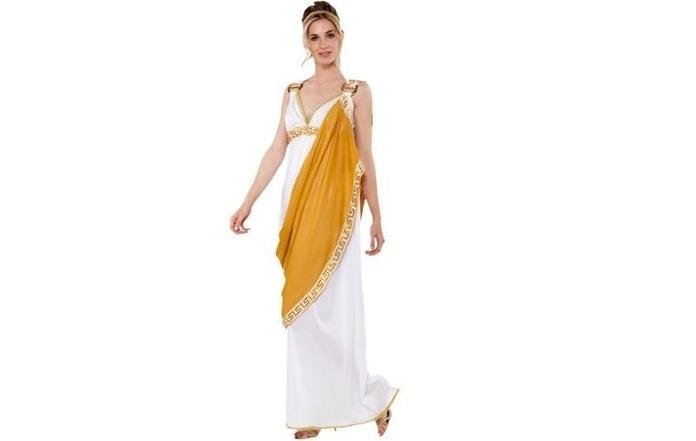 Disfraz dama romana amarillo