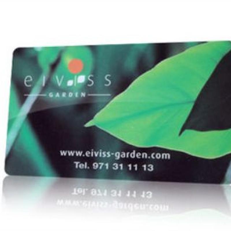 Tarjeta de fidelización: Productos y servicios de Eiviss Garden