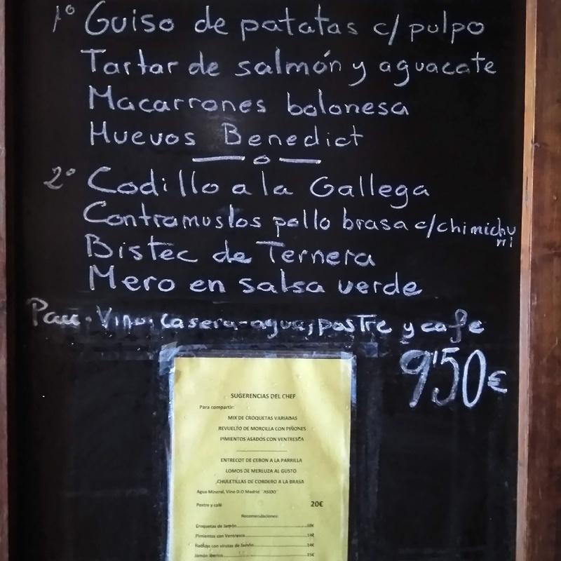 Menú del día: Carta y menús de Restaurante Gonzalo