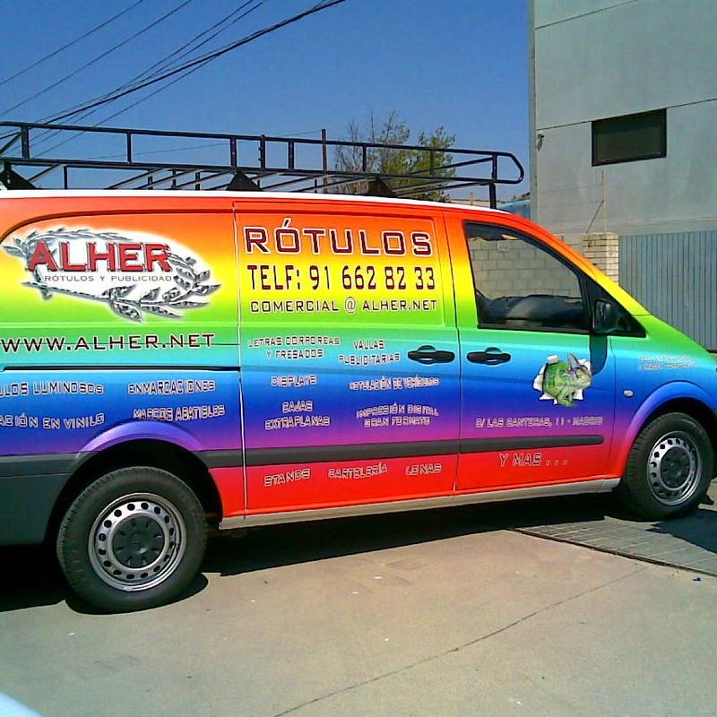 Rotulación en todo tipo de vehículos.: Servicios de Alher