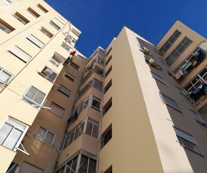 Proyecto, Dirección y Coordinación de Rehabilitación de fachada trasera Edificio IRIS, Cartagena