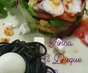 Ensalada de Pixin y pulpo, Finca El Duque, Gijón
