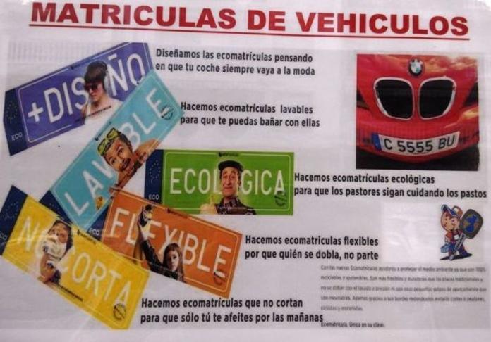 Matrículas para vehículos : Servicios y Productos de Mundollave