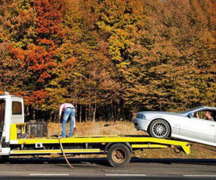 Grúas para vehículos : Servicios  de Valmar & JF Asistencia y Talleres