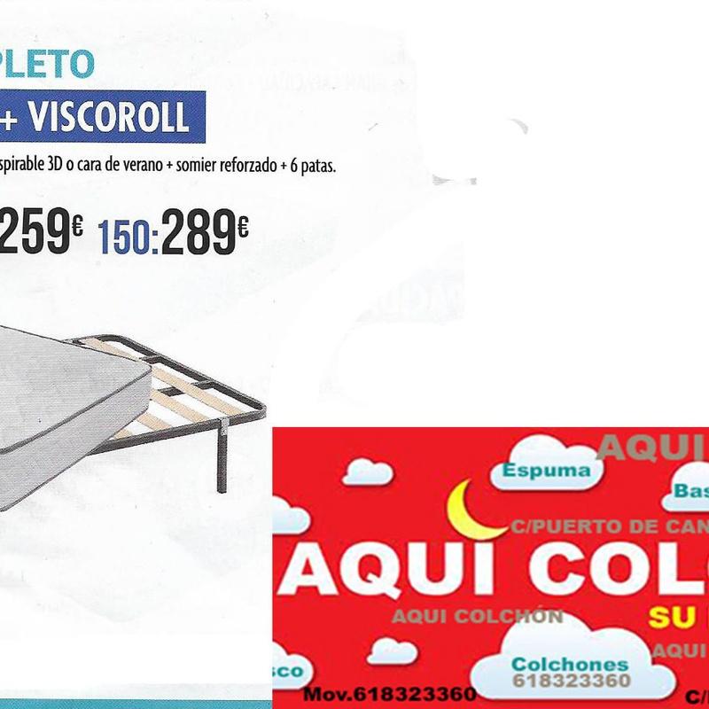Pack Colchon Visco mas somier.