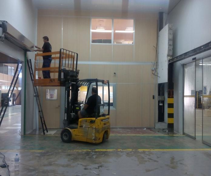 Puerta rápida en lona pvc enrollable autorreparable Farem Smart instalación