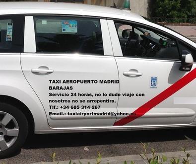 TAXI AEROPUERTO LAS TABLAS  DE MADRID