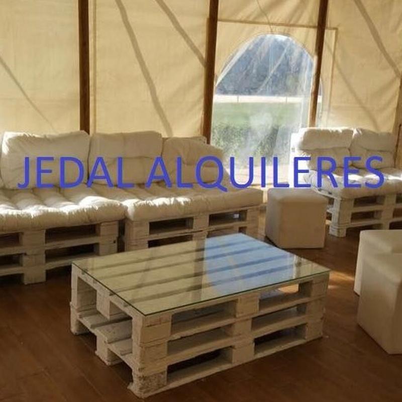 Mobiliario chill out : Catálogo de Jedal Alquileres