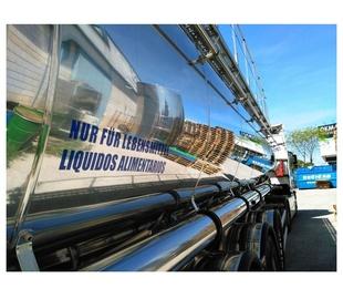 Transporte de todo tipo de líquidos alimenticios en cisterna