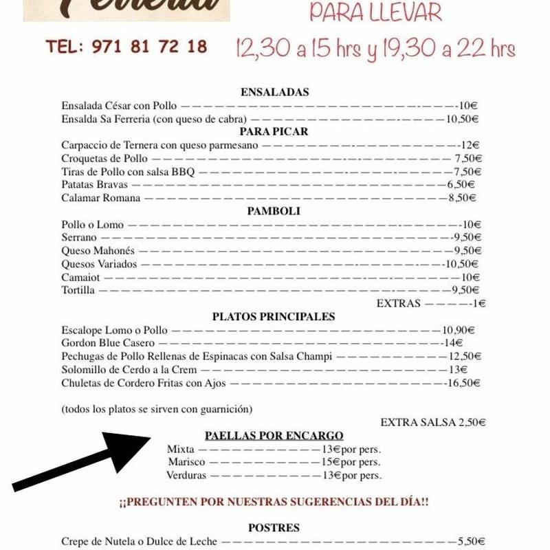 Carta desescalada: Carta de Celler Sa Ferrería