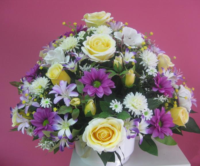 Centro artificial: Catálogo de flores y plantas de Floristería Pétalos
