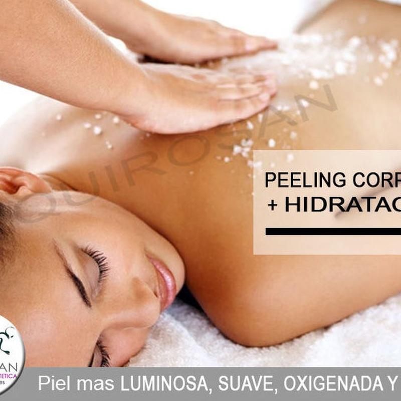 Peeling corporal + hidratación: Servicios de Quirosan
