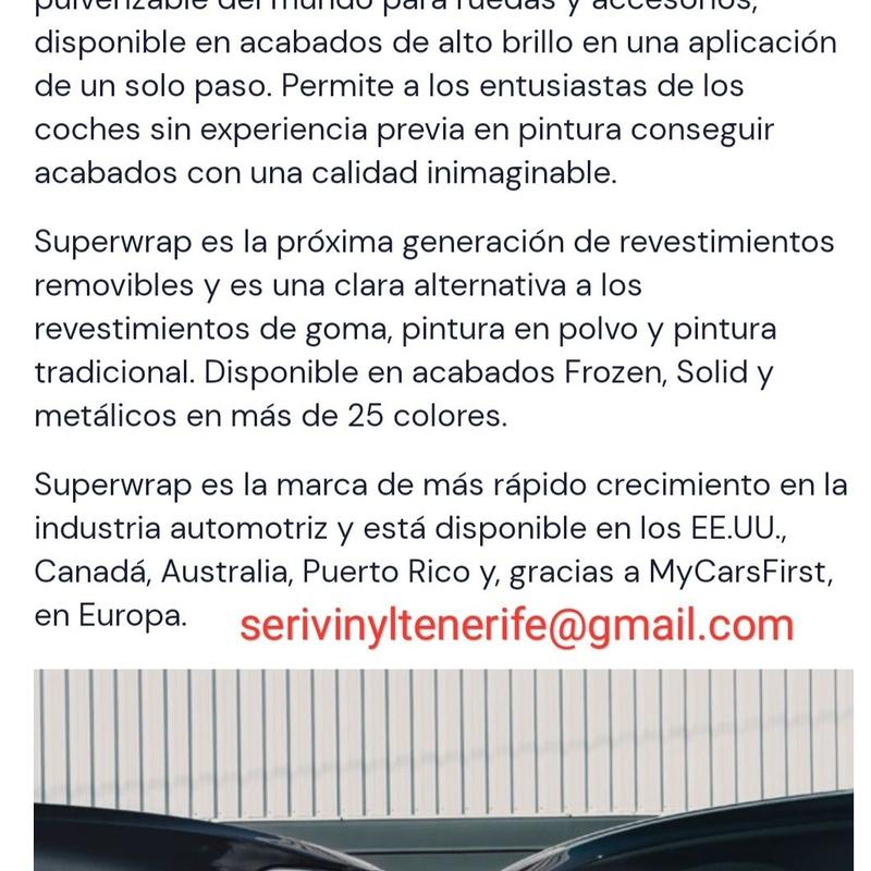 Superwrap: Servicios y productos de Serivinyl Tenerife