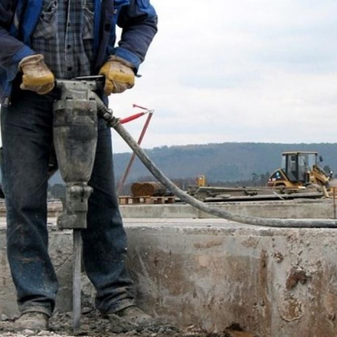 ¿Para qué tipos de trabajo se usan martillos neumáticos?
