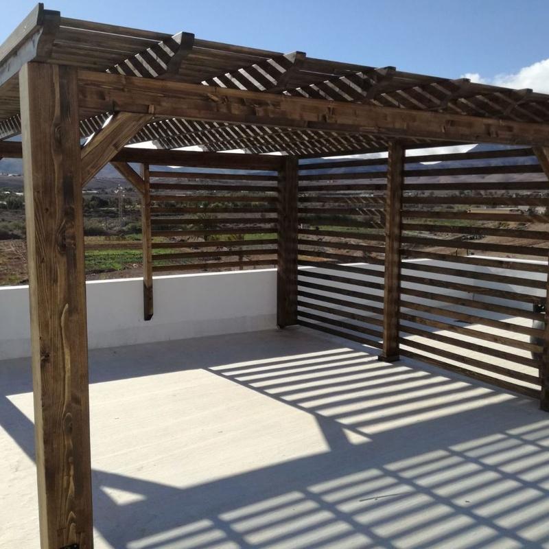 Pérgolas de madera a medida Fuerteventura