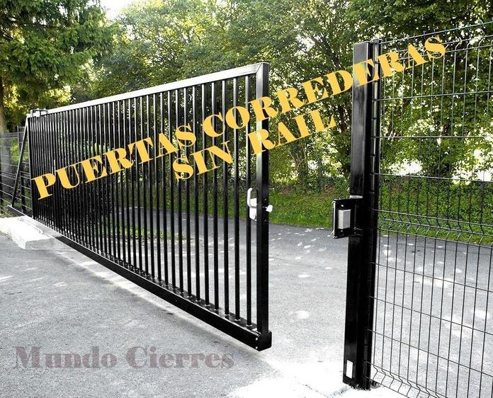 Puertas correderas sin raíl o guía
